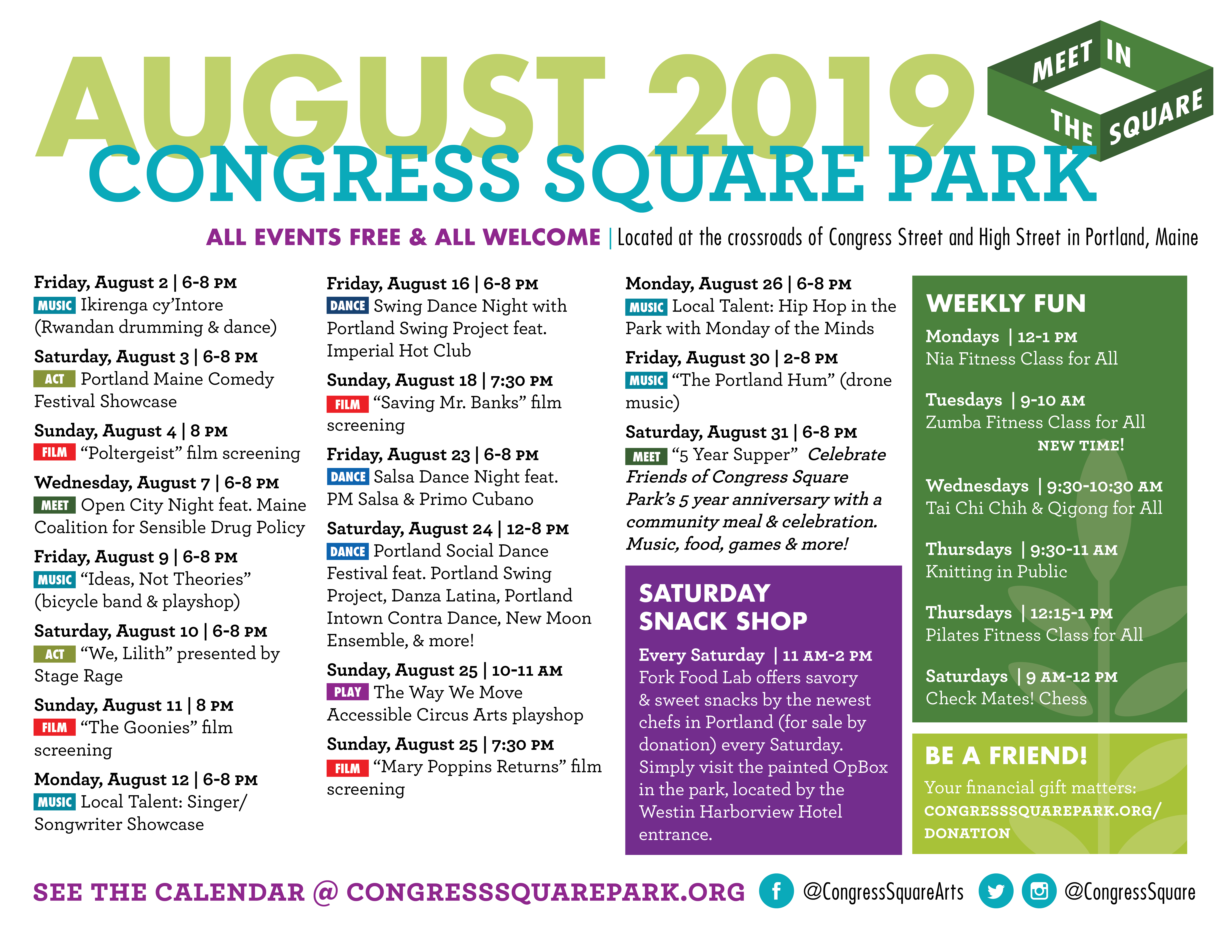 August Printable Calendar Available - Friends of Congress